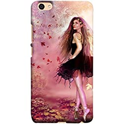 PrintVisa Designer Back Case Cover for Oppo F3 (Fairy In Cute Pink Dancing On Toes Design)
