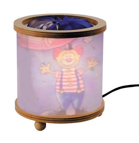 Niermann-Standby 281 - Magische Laterne Buche Zirkus, Die Leuchte mit 12 Volt - 20 Watt Steckertrafo und einer ca. 1,5 Meter langen Zuleitung mit Zwischenschalter ausgestattet, mit Leuchtmittel und Ersatzleuchtmittel im Lieferumfang