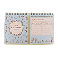 Jerome10Dan July 2018 to December 2019 Office Calendar with Holder, Monthly School Calendar Year Planner Daily Office Calendar Activity Calendar, Monthly Office Calendar Flowers blue