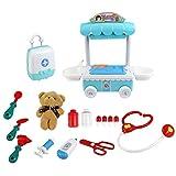 Bescita6 Kinder Arzt Kit mit Electronic Reden Puppe Medizinisch Lieferungen Spielset So tun als ob Mädchen Doktor Rolle Spielen Elektrisch Stimme Simulation Kind Haus Puzzle Spielzeug