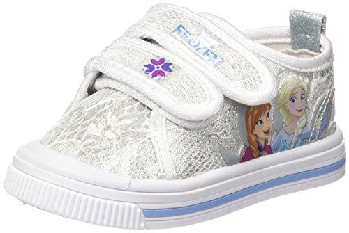 Disney canvas low pizzo, sneaker bambina, argento, 27 eu