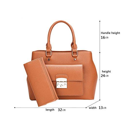 Sunas Le nuove donne dell'inarcamento della serratura di modo della borsa delle signore portano il raccoglitore casuale del sacchetto del pendente della spalla Marrone