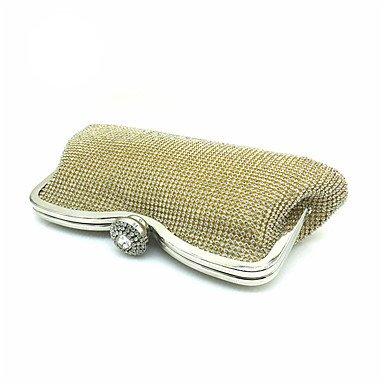 Frauen aus Polyester Satin formale Veranstaltung/Party Hochzeit Abend Tasche Handtasche Kupplung mehr Farben Gold