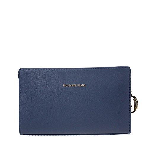 Trussardi Jeans 75B494XX Pochette Femme BLUE TU