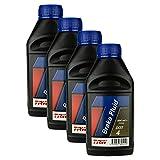 4x Trw Bremsflüssigkeit Brake Fluid Dot 4 500 Ml Pfb450