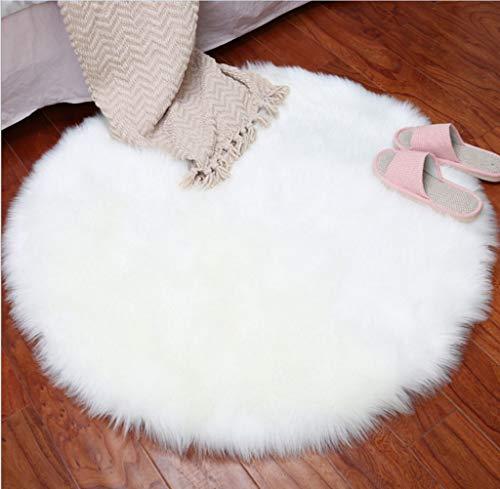 KIMDT Plüsch-RundTeppichboden Matten, Imitation Wool Carpet Indoor Baby Crawling Teppiche Kids-Teepee Tent Game House Round,100 * ()