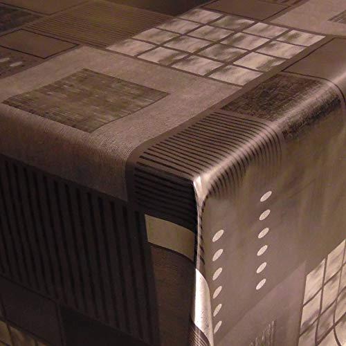 Neumann Handelsvertrieb Wachstuch Tischdecke abwaschbar Biertischdecke mit Fleecerücken 200 cm x 140 cm (Schwarz Metallic)