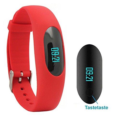 AsiaLONG Fitness Armband Schrittzähler Uhr Ohne Bluetooth Fitness Tracker Aktivitätstracker Smart ArmbandUhr mit Schlafüberwachung, Kalorienzähler, Entfernung, Touch Bildschirm für Damen Herren Outdoor-Rennen Gehen (Ohne APP Handy) (Damen Outdoor-wasserdichte Armbanduhr)