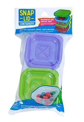 Snap Deckel Behälter, 4Zählen 2-Pack mehrfarbig -