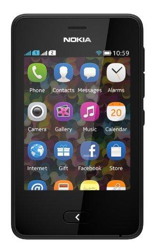 Nokia Asha 501 GSM Mobile Phone (Dual SIM) (Black)