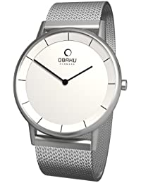 Obaku Harmony 28-V143GCWMC - Reloj analógico de cuarzo para hombre, correa de acero inoxidable color plateado