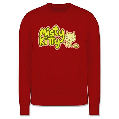 Katzen - Misty Kitty - Herren Premium Pullover Rot