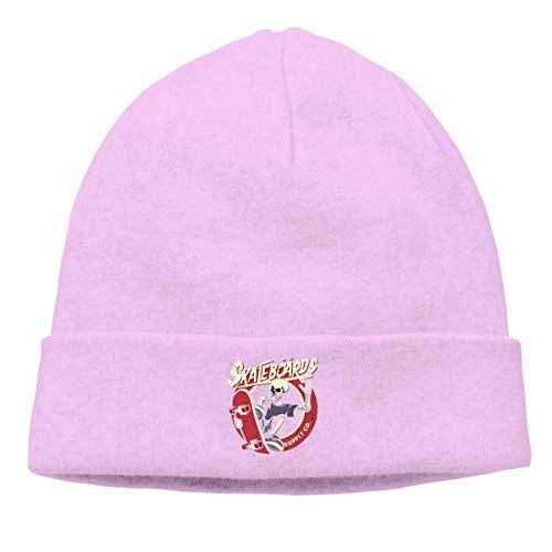 DHNKW Skull Playing Skateboarding Beanie Hat for Men and Women Soft Winter Warm Skull Cap