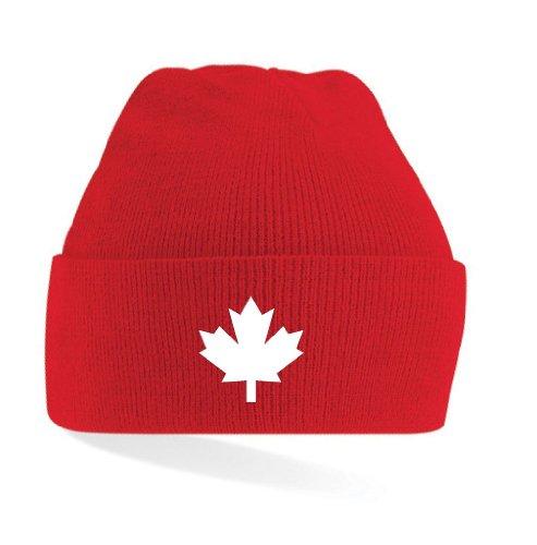 CANADA / KANADA STRICKMÜTZE TOP NEU, rot, einheitsgrösse
