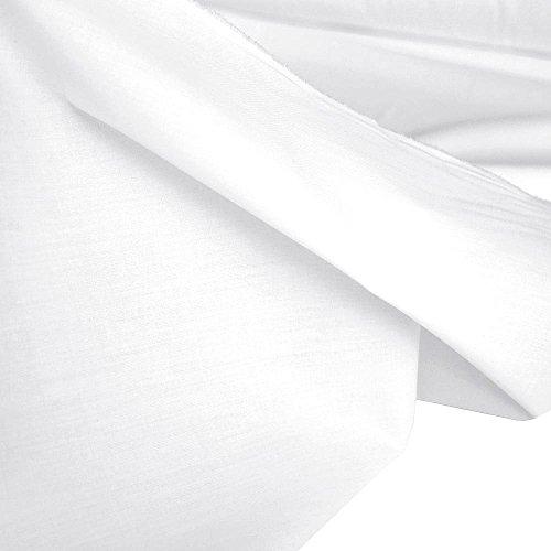 TOLKO Baumwollstoff Meterware - OEKO-TEX Baumwoll-Qualität, Leichter Klassiker zum Nähen und Dekorieren Weiß