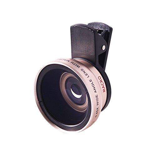 Universal Super Weitwinkel & Makro Lens Kit für Handy, Tablet & Laptop | Handy Kamera-Kit für iPhone, Samsung Galaxy, die meisten Smartphones & Tablets | inkl. Tragetasche und Objektivdeckel