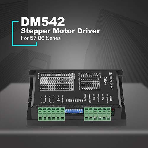 WOSOSYEYO DM542 Schrittmotortreiber-Steuerpult für 57 86 Series 2-Phasen-Digital-Schrittmotortreiber DC 24-60 V 4.5A Durable (Schwarz) -