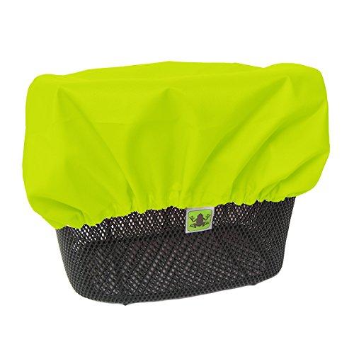 MadeForRain Wasserdichter Regenschutzbezug für Fahrradkörbe CityTurtle - Neongelb