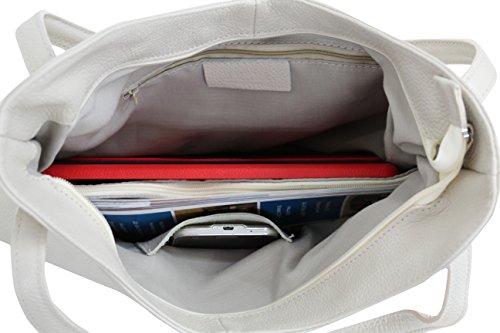 AMBRA Moda Damen Leder Schultertasche Damen Handtasche Beutel Shopper GL003 Altrosa