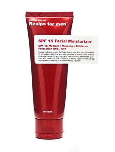 RECIPE FOR MEN Hydratant avec Protection Solaire SPF 15