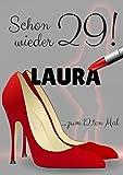 Lustige Karte zum 30/40 / 50 Geburtstag für Frauen in DinA4: Motiv High Heels - als Geschenk für Dich personalisiert