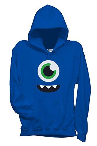 Sweatshirt Face Monster Smile - LUSTIG by Mush Dress Your Style - Baby-XL-Blau
