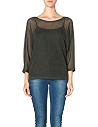 Vero Moda Diana 3/4 Blouse Knit Top - Kombu Green