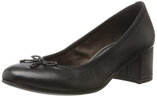 Tamaris Damen 22305 Pumps, Schwarz (Black Leather), 38 EU