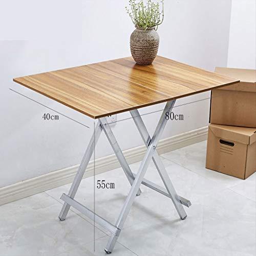 Leqi Klapptisch Tragbare Nachtmarkt Stall Stall Tisch Hause Esstisch Einfache Rechteckigen Tisch Schreibtisch 80 * 40 Hohe 55 (schwarz Gebürstet) (Color : Powder) -