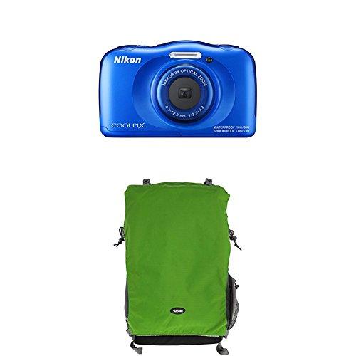 Nikon Coolpix W100 Kamera blau+Rollei Traveler Fotorucksack Canyon XL Green