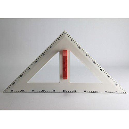 FTM Profi-Line Rechter Winkel 60cm Zeichengerät für Tafel und Whiteboard mit Griff, Schulbedarf und Lehrmittel