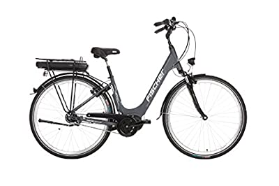 """FISCHER E-Bike City ECU 1803, Anthrazit, 28"""", RH 44 cm, Mittelmotor 36 V/396 Wh, Shimano-Schaltung"""