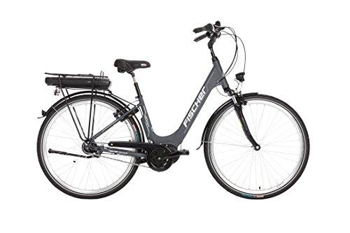 FISCHER E-Bike City ECU 1803, Anthrazit, 28″, RH 44 cm, Mittelmotor 36 V/396 Wh, Shimano-Schaltung