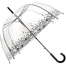 SMATI Paraguas largo transparente forma de campana automático-estampado Paris