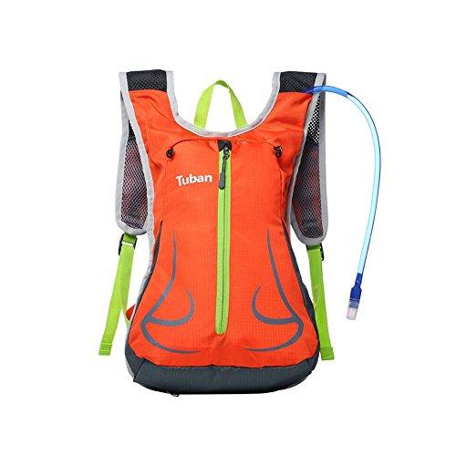 uhbgt 20L Wandern atmungsaktiv Radfahren Mountain Schulter Rucksack Helm mit Ein Wasser Tasche Orange