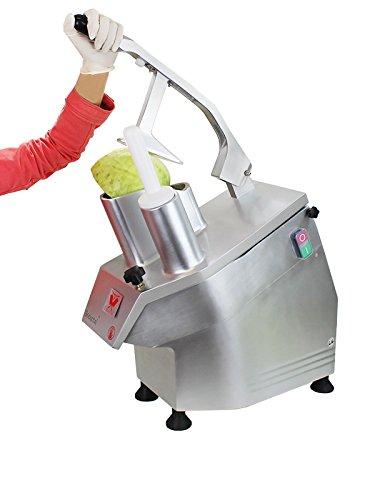 Beeketal 'GS750' Profi Gastro Gemüseschneider elektrisch (ca. 240kg/h Durchsatz), Industrie Gemüseschneidemaschine aus Aluminium für den professionellen Dauerbetrieb, 550 Watt Leistung, Getriebe und Motor service- und wartungsfrei, Set inkl. 5 Messerscheiben - 3