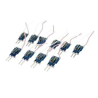 10 x 1 W 280–300mA pilote LED 12V 10W Lumineux AC 12–18V)