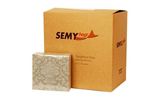 Semy airlaid tovagliolo, Dauphine, 40x40cm, grigio, 1/4 volte, Confezione 1er (1 confezione da 50 pezzi)