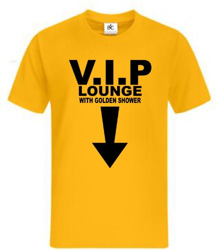 V.I.P Fun T-Shirt Fan Shirt Kult Sprüche Gelb