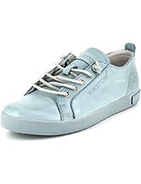 Blackstone Nl76 Sky Blue - Zapatos de cordones de Piel para mujer azul azul
