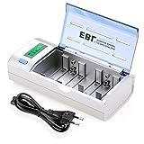 EBL 906 Universal Cargador de Pila para AA AAA C D 9V NI-MH NI-CD Batería Recargable con Pantalla...