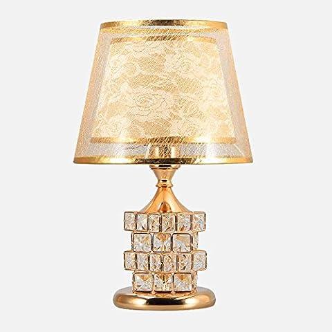 Dawn Lighting Lampe De Table En Cristal Moderne Double Bouton E27 Couleur TêTe De Lit Mobilier De Mariage DéCoration éConomie D'éNergie amateurs De Luxe ,
