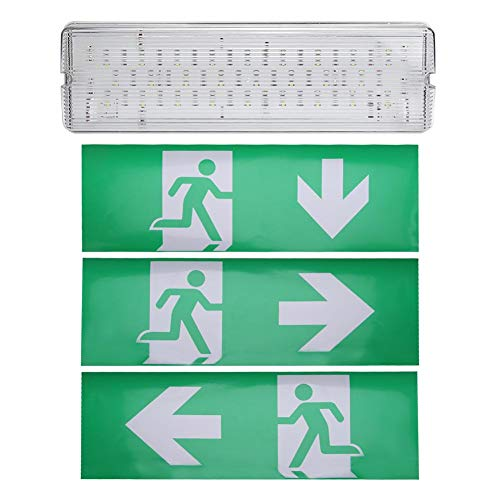 Zoternen LED Sicherheitsbeleuchtung, 8W Notbeleuchtung mit Pufferbatterie, IP 65 Rettungszeichenleuchte, Sicherheitsbeleuchtung für Verschiedene öffentliche Plätze(Right)