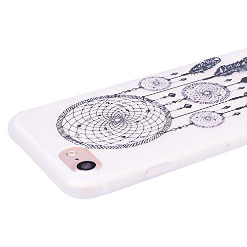 """WE LOVE CASE iPhone 7 / 8 Hülle 3D Scheuern Entlastung Elefanten Blumen iPhone 7 / 8 4,7"""" Hülle Silikon Weich Weiß Handyhülle Tasche für Mädchen Elegant Backcover , Soft TPU Flexibel Case Handycover S Campanula"""