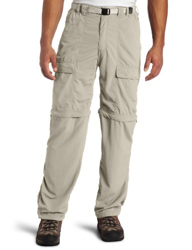 White Sierra Men's Trail 32-Inch Inseam Convertible Pant, Medium, Stone Trail Convertible Pants