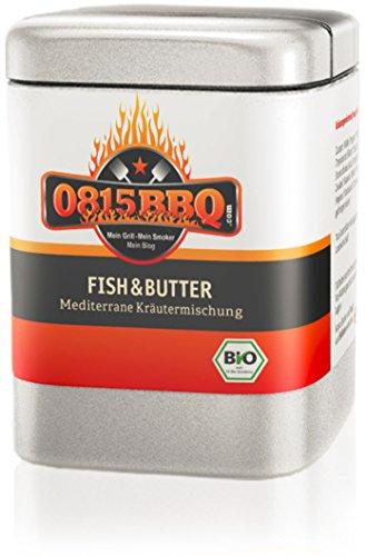 0815BBQ Fish&Butter, Fischgewürz in Bio Qualität (1 x 40g) Fisch-butter
