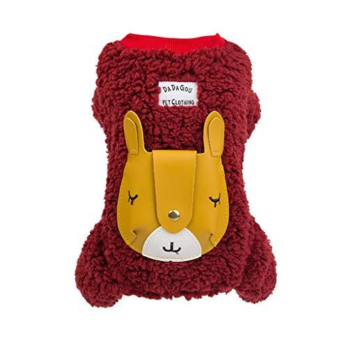 Kostüm Bad Schaf - JKRTR Neue Haustierkleidung 2019,Vierbeiniger Giraffen-Mantel-halten warme Katzen-Hundekleidung(Rot,XL)