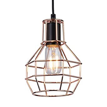 Suspension m tal cuivre design fera - Amazon luminaire suspension ...