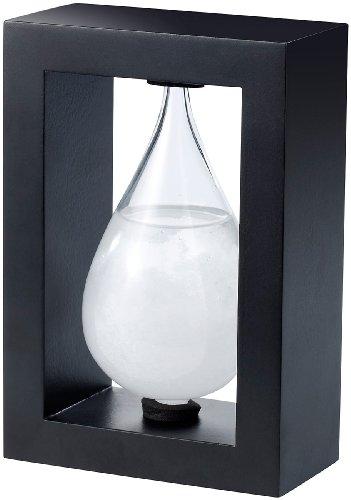 Carlo Milano Dänisches Sturmglas: Modernes FitzRoy-Sturmglas in Tropfenform, 14cm (Fitzroy Wetterstation)