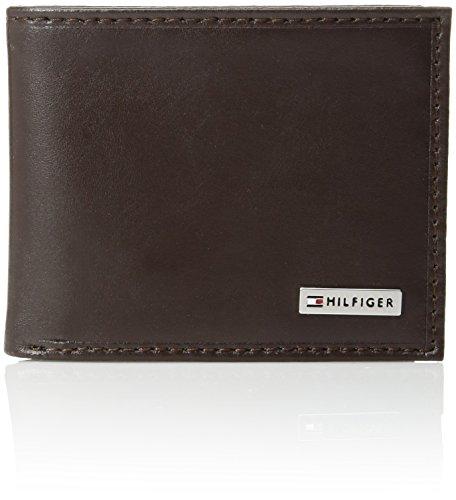 Tommy Hilfiger Men's Leather Fordham Passcase Billfold Wallet, Brown - Pocket 200 Hat
